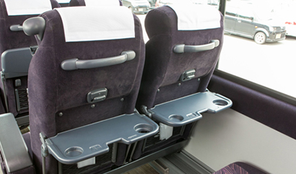 [the inside of car] seat table