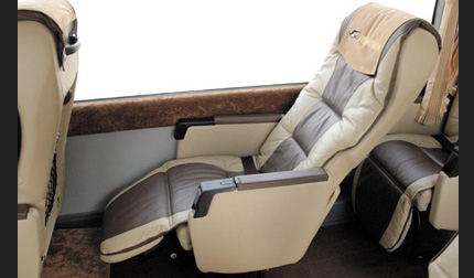 [the inside of car] original genuine leather reclining seat
