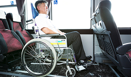 [the inside of car] ride image with wheelchair